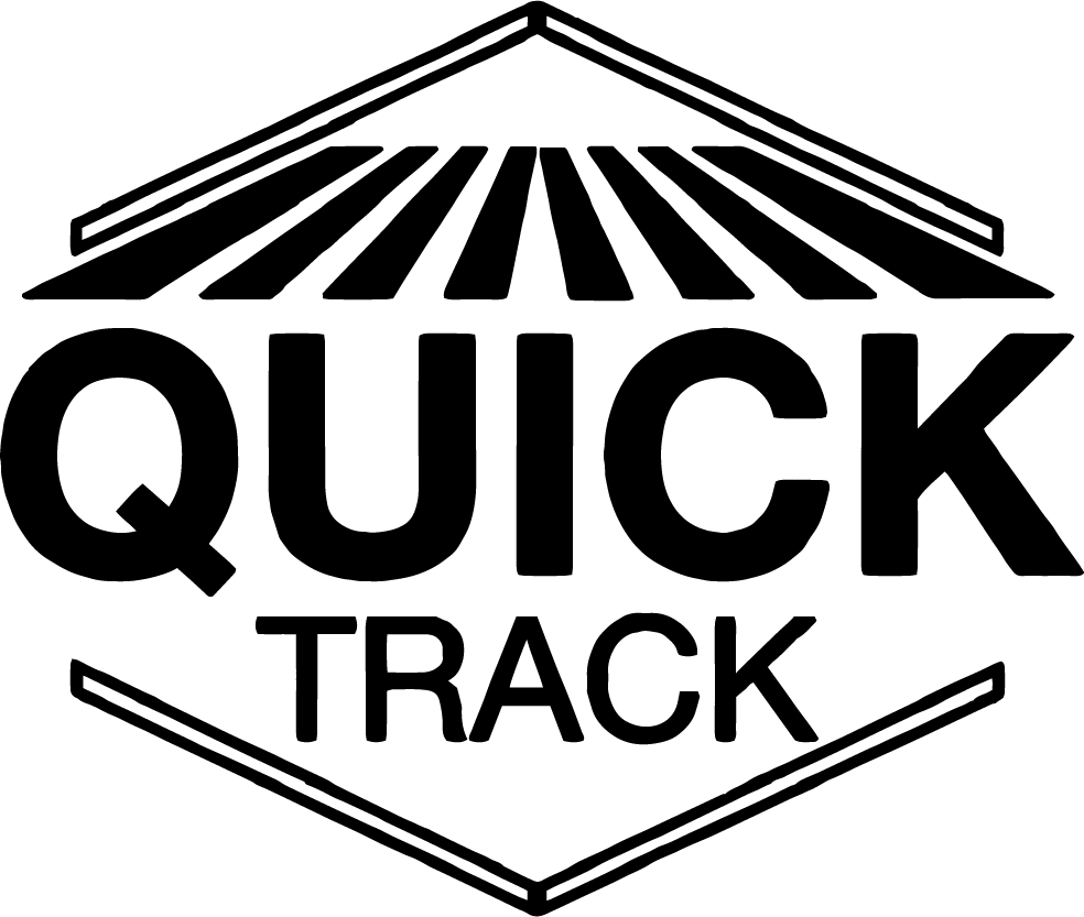 Quick track black logo